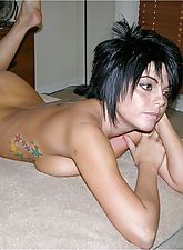Hot And Amateur Punk Rock Chick Models Nude