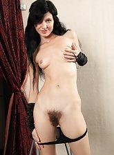 Elegant hairy pussy girl