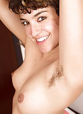Bianca's pussy is so hairy that her panties are swollen with fur. She truly is a natural girl with those sexy curves and hairy armpits. Get close and personal with Bianca.