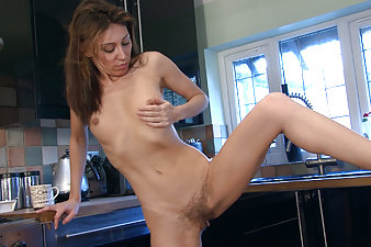 Chloe R is one hot and horny hairy woman