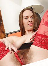 Erin Eden in sexy red lingerie