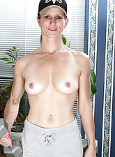 Veronica works out on more then her arms in this gallery