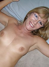 51 Year Old Milf With Glasses Modeling And Spreading Nude